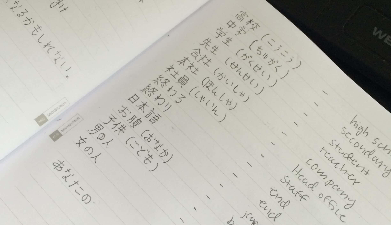 フィンランド人夫のあれちゃんは毎日一生懸命日本語を勉強中。