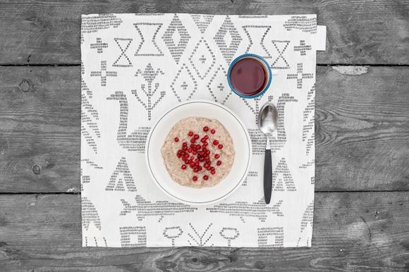 Saana_ja_Olli_Maailman_synty_Hemp_fabric_Tea_towel_4
