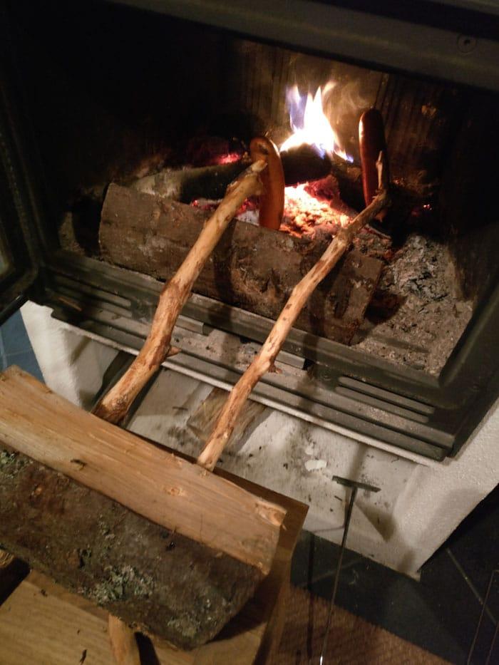暖炉ソーセージ