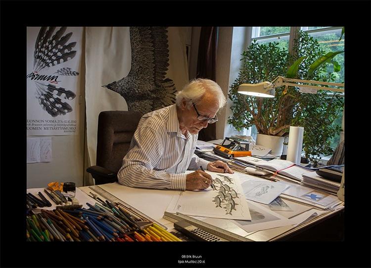 Erik Bruun,graphic designer,Finland