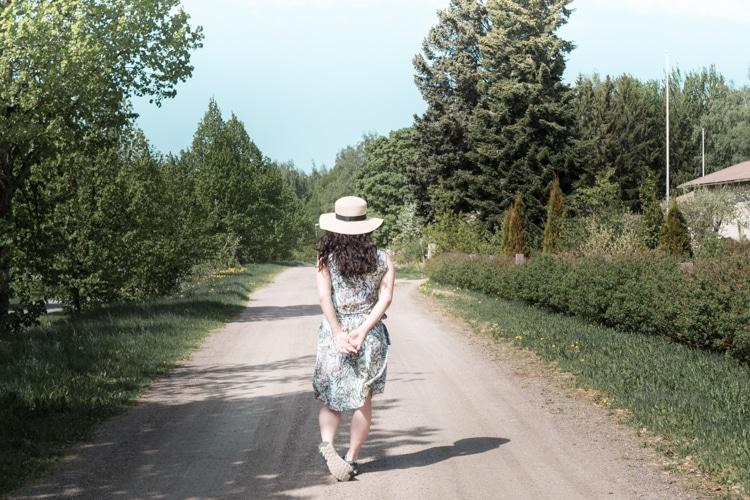 フィンランド 田舎道