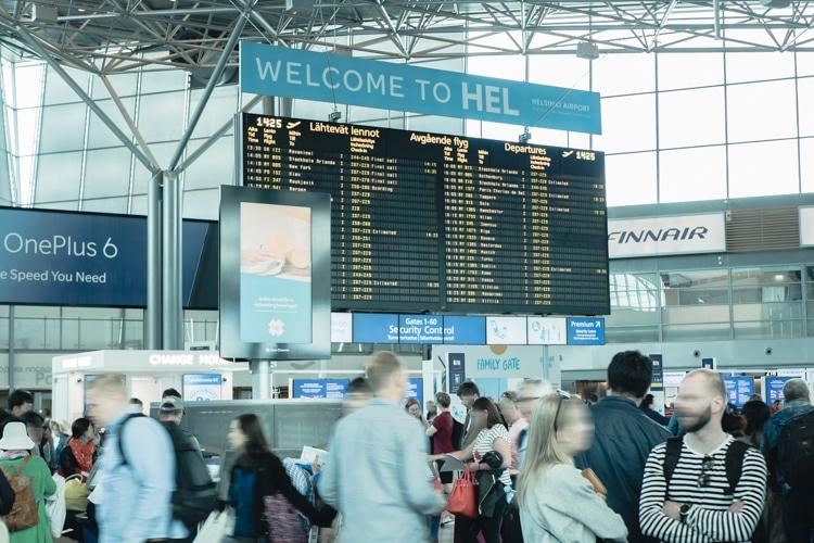 ヴァンター空港 出国