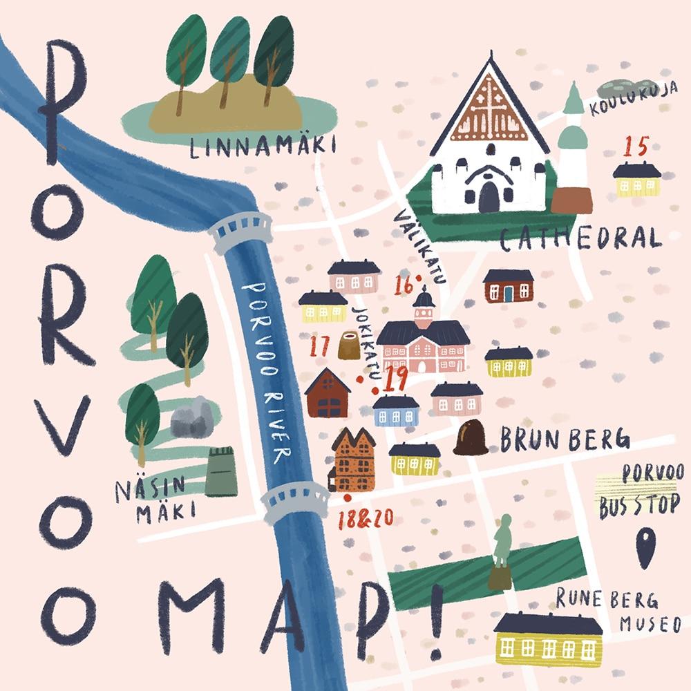 ポルヴォー 地図
