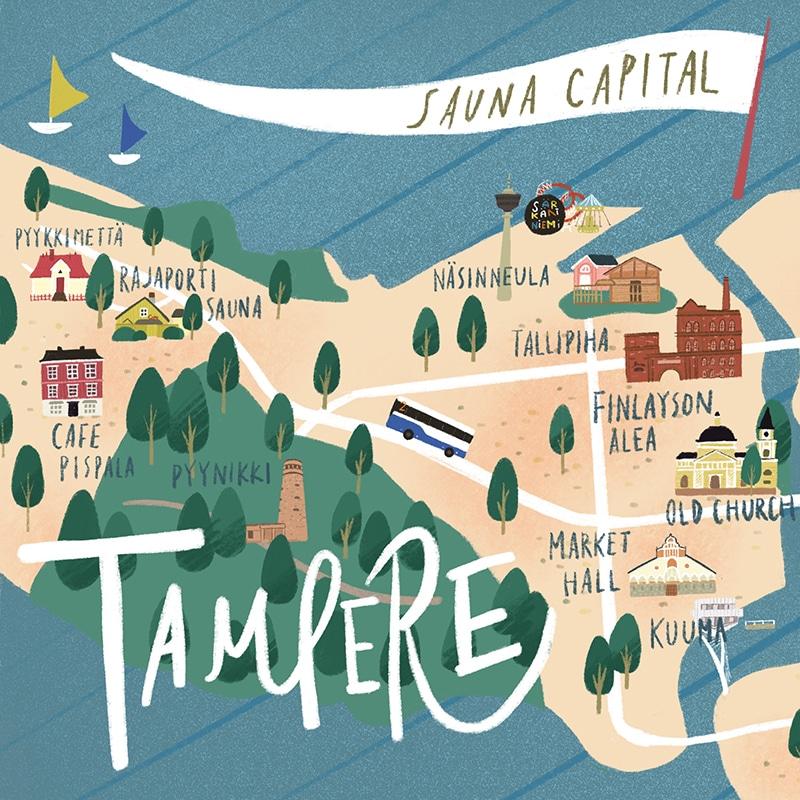 タンペレ観光マップ