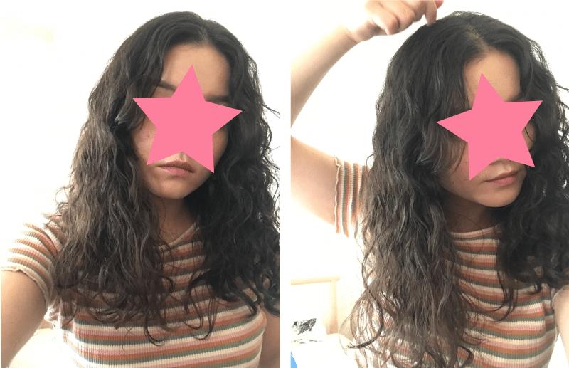 くせ毛 おろした髪の毛