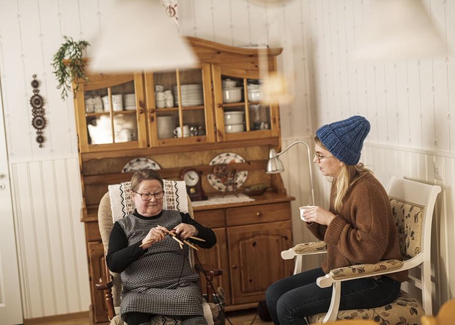 手編み ニット帽